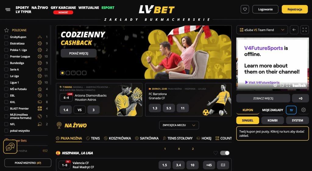 LVBet strona główna